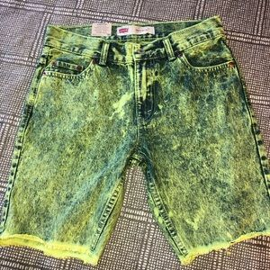 Levi's 511 Slim Cut Off Neon Jean Shorts